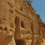 Up close to the dwellings