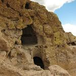 Some of the dwellings on the second cliff level