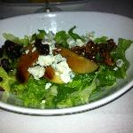 Salad with apples, dried cranberries and candied walnuts