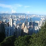 View of Kowloon from The Peak, Hong Kong Island.
