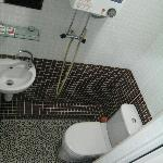 Wet room (shower, toilet and sink)