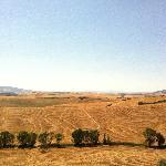 Panorama dall'Agriturismo verso Volterra.