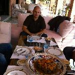 The best lunch in the Lmansion terrace with my very good friend Marcos and others