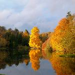Autumn colours reflected in the lake
