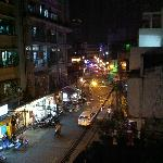 Night street view from Deluxe Room