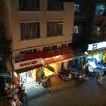 Night view of Binh An Hostel opposite the hotel