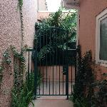 Gate to 24C private outdoor seating/door to room
