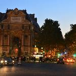 place st. michel...great for people-watching, and, a transportation hub