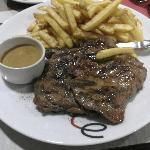 Good steak and chips!