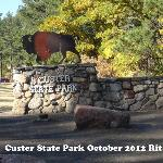 Custer park sign