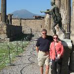 Sasha picked this spot in Pompeii for a photo of us