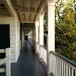 The third floor veranda.