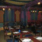 One of the dining rooms in Agrabah Cafe.