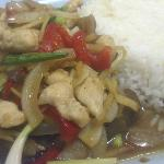 Chit Chai Restaurant - chicken & ginger with rice. Restaurant recommended by Thunya.