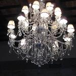 Gorgeous chandelier of the dining room