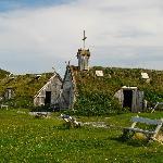 Sod huts at Norstead