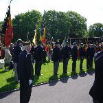 Anciens combattants belges sur le cimetière Américain