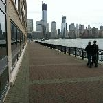View across the Hudson from hotel room - the new WTC towers, Manhattan
