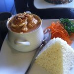 One of their curries served with rice