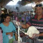 Shopping (Oaxaca strin cheese) for our cooking class
