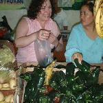 Shopping (Chile Poblano) for our cooking class