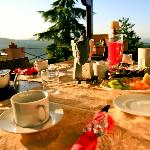 Breakfast with as view
