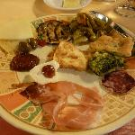 fabulous antipasti -- dinner is a bargain