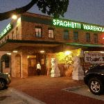 Main entrance to the Spaghetti Warehouse at The Parks Mall in Arlington, TX