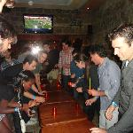 Party at the hostel bar