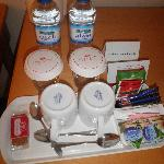 Complimentary Water, Tea, Coffee and Caramel Biscuit