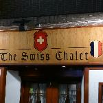 Swiss Chalet Restaurant sign