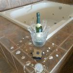How the staff set up our jacuzzi area