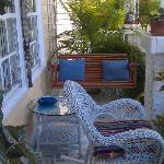 Quaint front porch of the house.