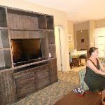 suite from back slider looking thru livingroom to kitchen