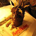 Geburtstagskuchen als Aufmerksamkeit des Hotels