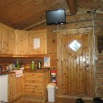 Cabin had TV plus cooking gear and small fridge