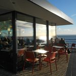 Great views and great Coffee from the Piccolo Bar, Porthcawl.