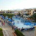 Pools in centre of hotel (activity pools during day)
