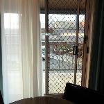 Security door to balcony