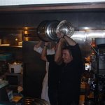 celebrating with the Cup