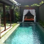 Pool & Daybed - take from bedroom