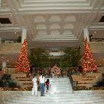 Main entrance near Christmas