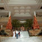 Main entrance near Christmas