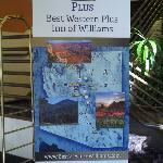 Welcoming sign, Best Western Plus Inn of Williams, AZ