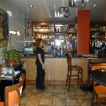 Bar area and Hostess Zulma