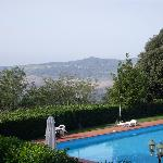 Scenery & pool - from balcony of Room 31