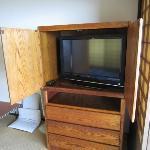 ジャパニーズルームにあるテレビ(他の部屋はテレビ無)