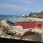 Vista de la playa artificial