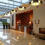 Entrance, lobby and reception desk
