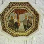 Mosaic depicting the happy life in the Soviet Union